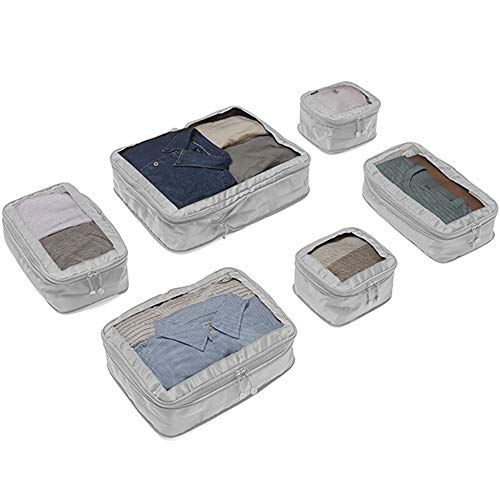 Antler 4 Travel Packing Cubes for Suitcases - Luggage Organiser Bags - Travel Essentials - Travel Pouches for Packing