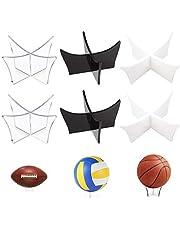 Acryl Display Stand, Jicyor 6pcs Transparant Voetbal Stand Multifunctionele Plastic Display Houder Plint voor Basketbal Rugby Volleybal Bowling