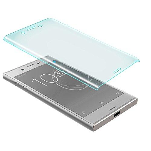 zanasta Bildschirmschutz Glass kompatibel mit Sony Xperia XZs Schutzfolie aus gehärtetem Glas [Vollständige Abdeckung] Screen Protector (3D Full Cover) Transparent