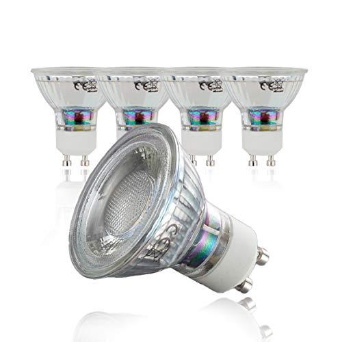 B.K.Licht 5er Set 5W LED Lampen – Ersetzt 50W Halogenlampe – Leuchtmittel mit GU10 Fassung für innen – Energiesparende Birne in Reflektor-Form – 400 Lumen – 3000K warmweiss