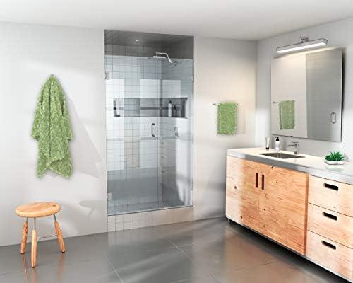 Glass Warehouse Frameless Shower Door Wall Hinge With Enduroshield Glass Coating 78 X 45 Brushed Nickel Amazon Com