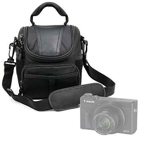 DURAGADGET Bolso Compatible con Cámara Canon PowerShot G5 X Mark II, Canon PowerShot G7 X Mark III - con Asa Y Bandolera De Transporte - Compartimentos para la cámara fotográfica Accesorios