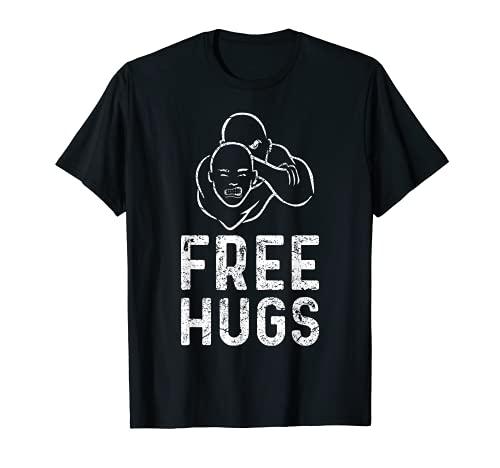 Free Hugs - Lustiges Brazilian Jiu-Jitsu BJJ T-Shirt