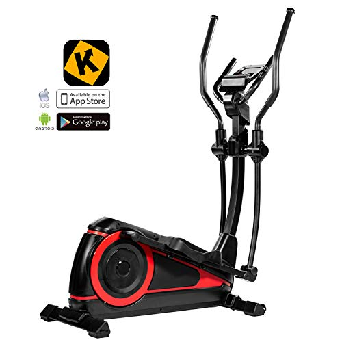 AsVIVA Unisex - Adult Cross Trainer and Ergometer C25 Pro Bluetooth Black/Red, One Size
