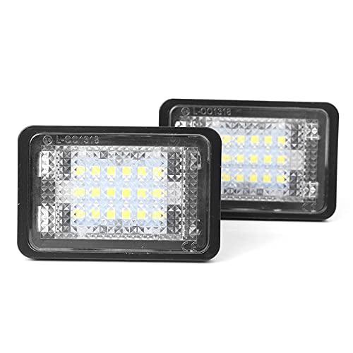 WUYANZI 2Pcs Car Number License Plate Light LED Indicator Lamp Fit For Mercedes Benz GLK X204 GLK350 2008 2009 2010 2011 2012 2013 2014 2015