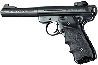 Ruger MK II/MK III Rubber Grip w/Right Hand Thumb Rest,Black