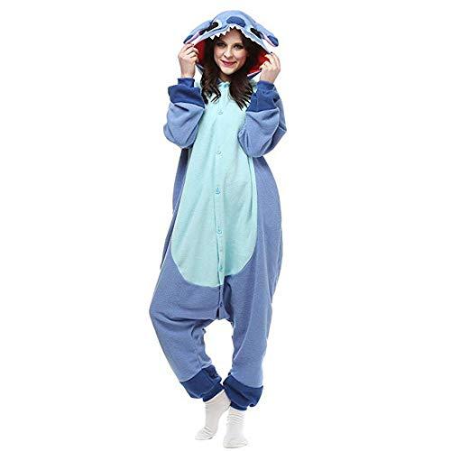 Xixik Blau und Pinck Stitch Pyjama Kostüm für Erwachsene und Jugendliche