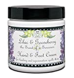 Lilac and Gooseberry Hand and Foot Moisturizing Cream | 4 oz | Yennefer Perfume Scent of a Sorceress | with Protein, Kokum Butter, for Very Dry Skin, Feet and Cuticles by Bella Des Natural Beauty
