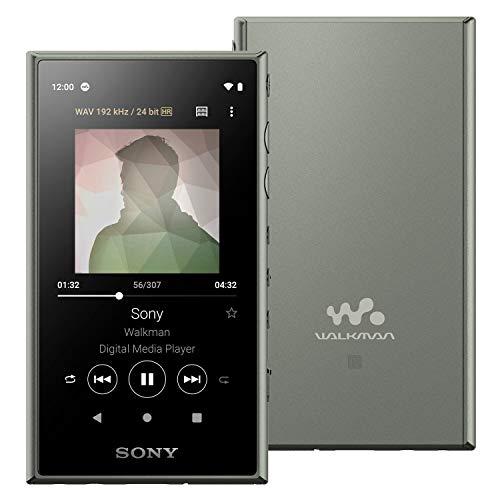 ソニーウォークマン32GBAシリーズNW-A106:ハイレゾ対応/MP3プレーヤー/bluetooth/android搭載/microSD対応タッチパネル搭載最大26時間連続再生360RealityAudio再生可能モデルアッシュグリーンNW-A106GM