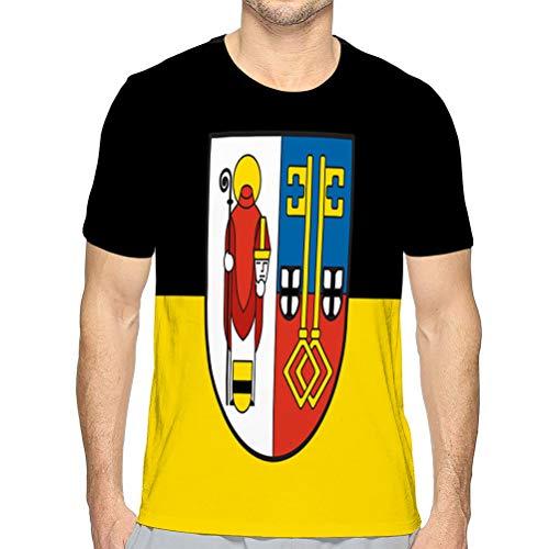 Herren T Shirtflag von Krefeld in Nordrhein Westfalen Cotton T-Shirt L
