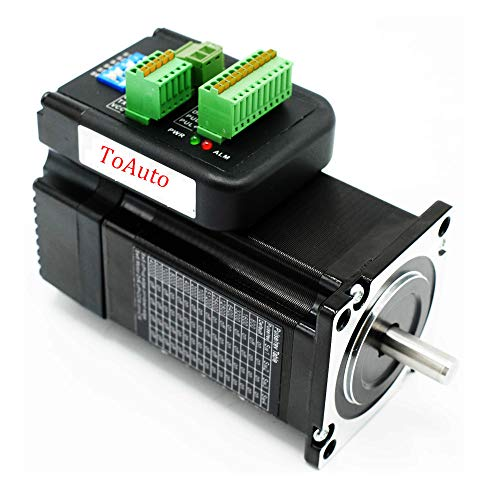 TOAUTO Integrated Closed-Loop Nema23 Stepper Motor with Driver IHSS57-36-20 2Nm 36V Position Encoder...