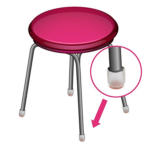 Outus Chair Leg Caps Silicone Floor Protector Round Furniture Table Feet Covers, 32 Pack