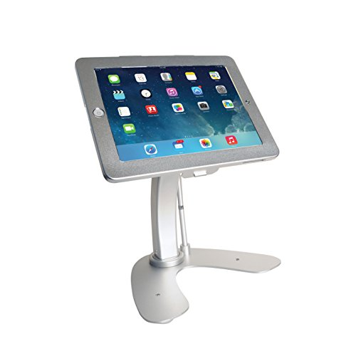 Dual Security Kiosk Stand with Locking Case and Cable for iPad Gen. 5 (2017), iPad Gen. 6 (2018), iPad Air, and iPad Pro 9.7