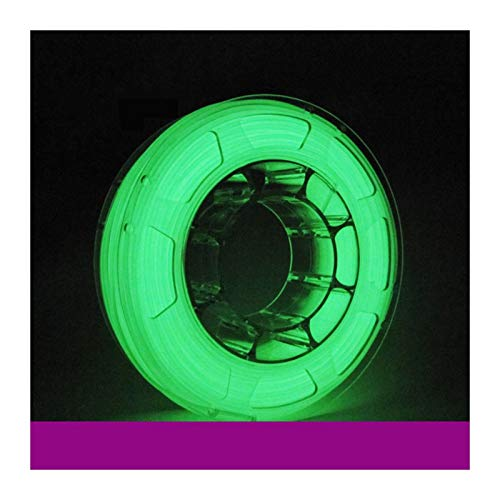 QingH yy PLA Filament 1.75mm White Glow in The Dark 3D Printer Filament 1 kg Spool, Dimensional Accuracy +/- 0.03 mm DYCS0820 (Color : Green)