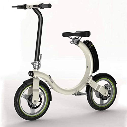 RDJM Bici electrica Bicicletas rápidas y Eléctrica en Adultos eléctrico Bicicleta for Adultos Adolescente Plegable Bicicleta eléctrica con iluminación LED Velocidad máxima 28 km/h 18KM Correr Distan