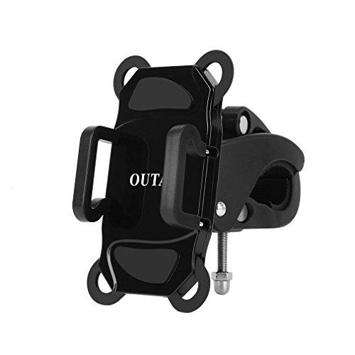 Handy Fahrradhalterung OUTAD Verstellbare Handy Halterung Rack mit Gummibändern und 360-Grad-Drehung für Motorrad / Fahrrad-Lenker-Überrollbügel