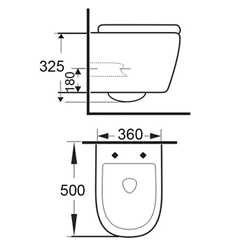 LAVITA KERAMIK HÄNGE-WC-TOILETTE #99870 SPÜLRANDLOS + SOFT-CLOSE SLIM - 4