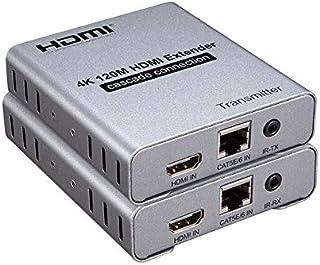 كابلات HDMI - موسع 4K@30HZ 120M أكثر من RJ45 لشبكة Ethernet Lan CAT5e Cat6 وصلة توصيل متتالية للكمبيوتر الشخصي DVD إلى الت...