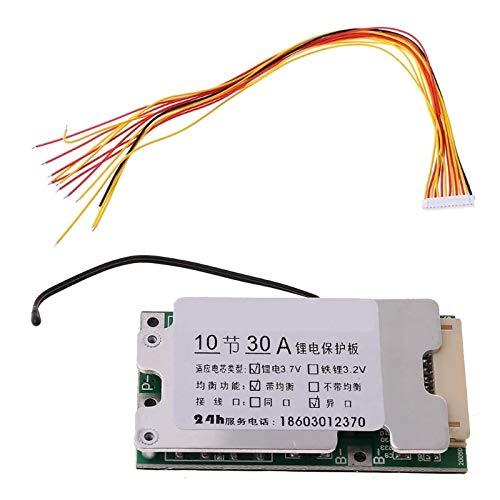 1 Pieza Protección del Poder del PWB de BMS de la batería del Litio 18650 del Li-Ion de 10S 36V 30A con la balanza
