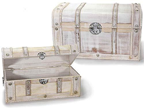 Baúles con forma de maleta vintage de madera, juego de 2 piezas, baúles decorativos para escaparates y tiendas, complemento de decoración para la casa