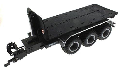 Treckerheld Abroll-Plattform für Siku Control 32 Krampe Hakenlift (6786) (Schwarz)