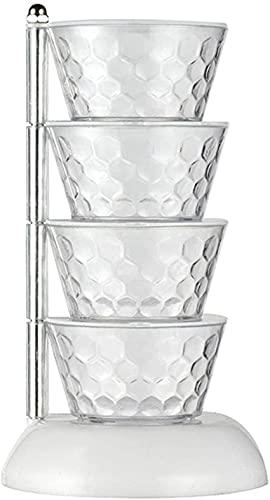 Kruidendooscontainer: Spice Canister Spice Box Keuken Verticale Roterende Multi-Layer Kruiden Plastic Kruidendoos voor Keuken Huishoudelijke Kruiden Pot Set