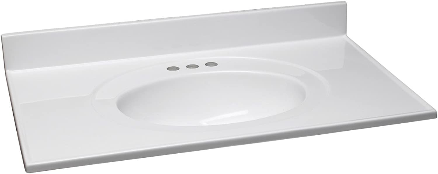 Design House 550442 Cultured Marble Vanity Top 37 , Red