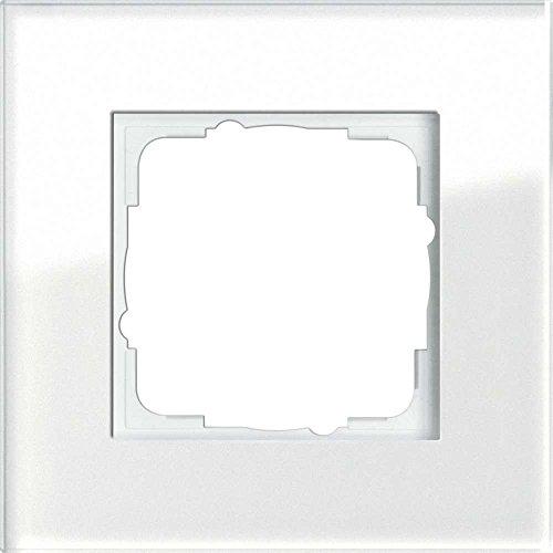 Gira 021112 Rahmen 1-fach Esprit Glas, weiß