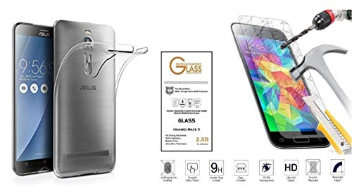 FÜR ASUS ZENFONE 2 Deluxe ZE551ML ZE550ML Z00ADB, Z00AD, Z00ADA Schutzhülle Cover Case Gel Silikon Gummi TPU MORBIDA + Folie TEMPERATO ANTIURMER Touch Screen