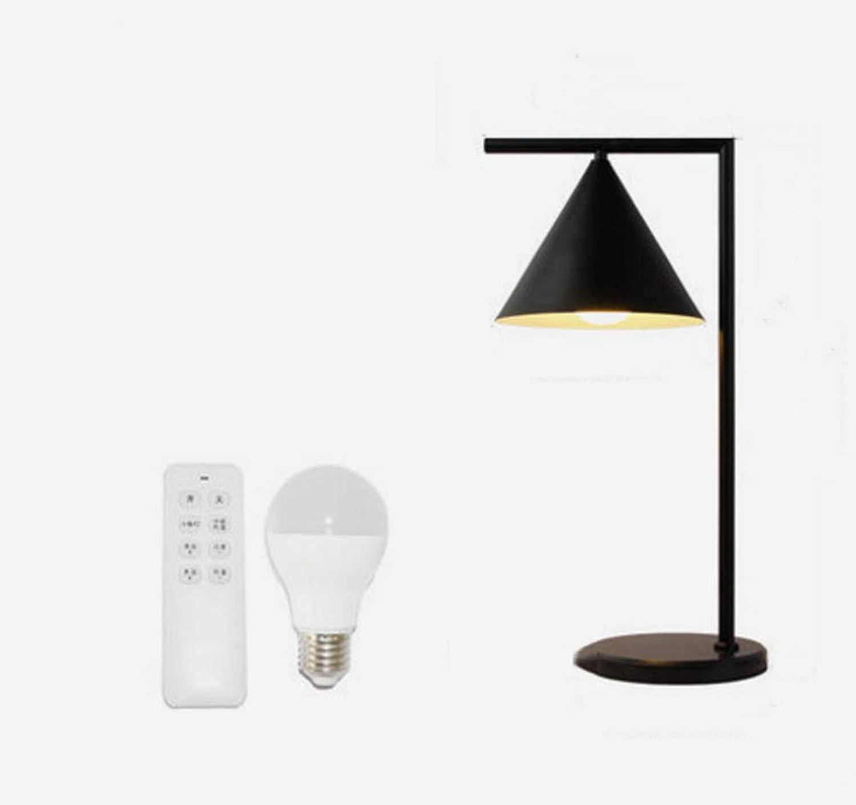LHYCM Nordic Schlafzimmer Nachttischlampe, Kreative Persnlichkeit Tischlampe Einfache Moderne Wohnzimmer Studie Hotel Tischlampe Student Nachtlicht,schwarz