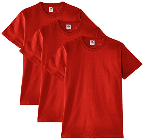 Fruit of the Loom Heavy Cotton Tee Shirt 3 Pack, Camiseta de