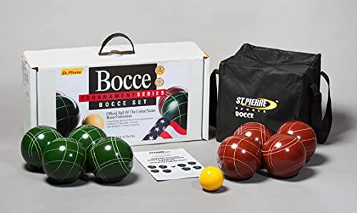 St. Pierre Tournament Bocce Set with Nylon Bag