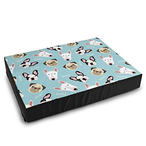 YAGEAD Camas para Mascotas Perros de Raza Pug, Bulldog francés, Camas para Perros Bull Terrier para Perros pequeños y medianos