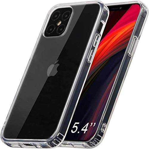 ANEWSIR Hülle für iPhone 12 Mini/iPhone 12 (5.4 Zoll) Hülle, Schutzhülle Transparent TPU Rahmen & weichem Bumper, Schutzhülle Hülle Cover Handyhülle für iPhone 12 Mini/iPhone 12 (5.4