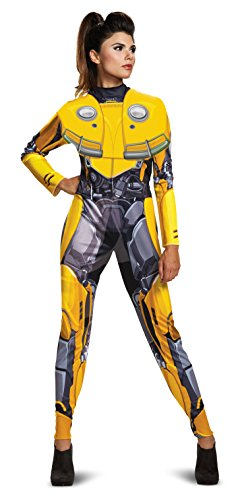 Disguise Women's Bumblebee Adult Female Bodysuit Costume, Yellow, M (8-10)