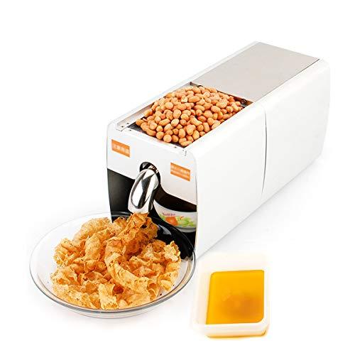 LYY Ölpresse Home Automatische Maschine Kalt- und Heißölpresse Extractor Expeller 304Edelstahl Öl mit für kleine große Saaten Kerne Nüsse täglich frisches Speiseöl ohne Zusatzstoffe