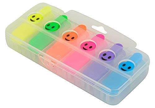 Oytra 6 Pieces Smile Highlighter Marker