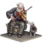 TRUEGRIT 1/32 54mm Alter Geiger und Hundeharz Figur Miniatur Modellbausatz unbemalt unmontiert
