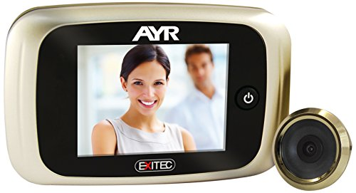 mejores Mirillas Digitales AYR 753 - Mirilla digital, níquel mate y latón