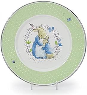 Golden Rabbit Polka Dot Peter Rabbit Enamelware 8½ inch Sandwich Child Plate