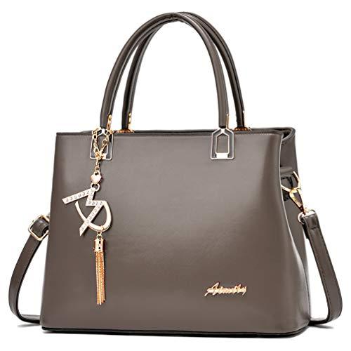 Damen Handtaschen und Schultertaschen Damen Designer Henkeltasche, (W1 Kaffee), Einheitsgröße