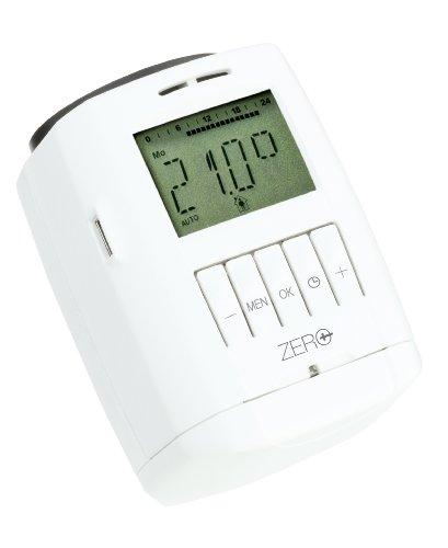 Eurotronic Sparmatic Zero Energiesparregler; Programmierung mit USB-Stick / elektronisches Heizkörperthermostat mit Programmier-Port - Weiß