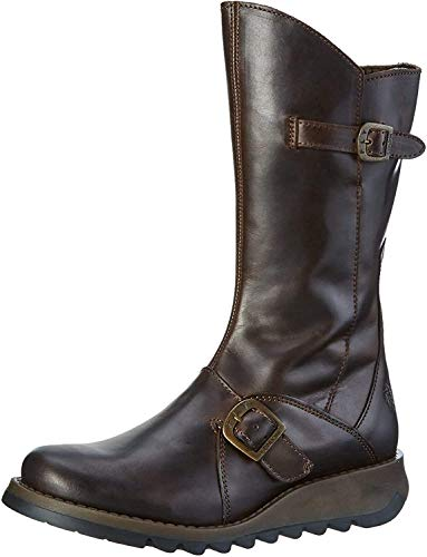 Fly London Damen Mes 2 Langschaft Stiefel , Braun (Dkbrown 004), 40 EU