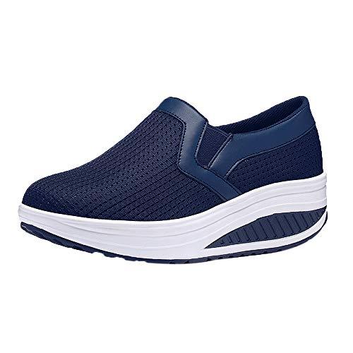 Honestyi Sneakers Femmes Maille Respirant Baskets Basses Fond Epais Casual Shoes Dame Chaussures de Running Fitness Platform Sneakers Chaussures de Outdoor Classiques Baskets