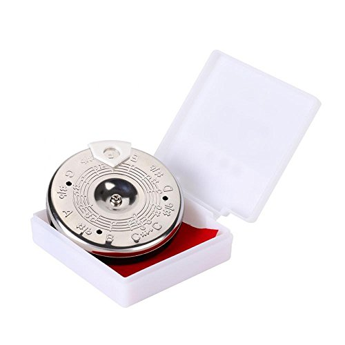 13 Tone Pitch Pipe Tuner, Sensitive 13 Pitch Pipe Chromatic Tuner for Guitar Bass Violin Ukulele Chromatic Tuning