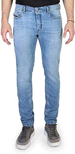 Diesel Herren Waykee Regular Straight Leg Jeans 0088Z - Blau - 38W / 34L