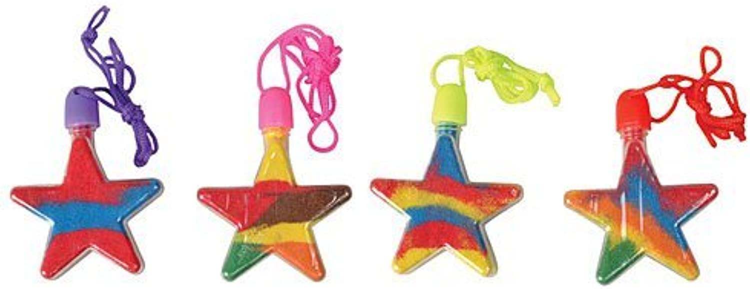 Star Sand Art Necklace Package of 12 by Shindigz