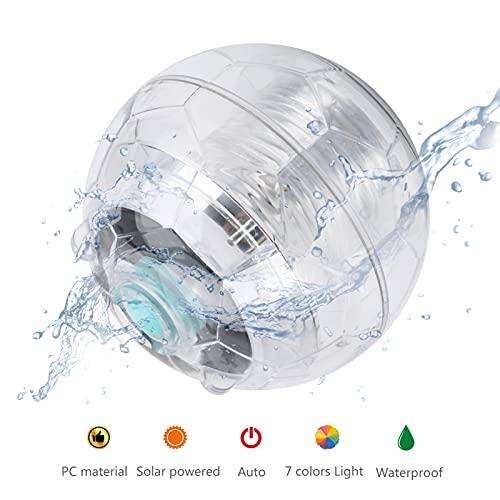 Pinsofy Luz Flotante para Piscina, luz Flotante con energía Solar, Impermeable, Bola Decorativa en Forma de Lago para Fuente