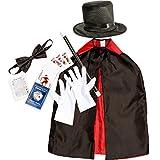 Juvale Mago de Vestuario y Accesorios para niños (7 Piezas) - Incluye Plegable Sombrero,...