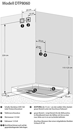 AcquaVapore DTP8060-7302R Dusche Dampfdusche Duschtempel Duschkabine 80×120, EasyClean Versiegelung der Scheiben:2K Scheiben Versiegelung +89.-EUR - 6